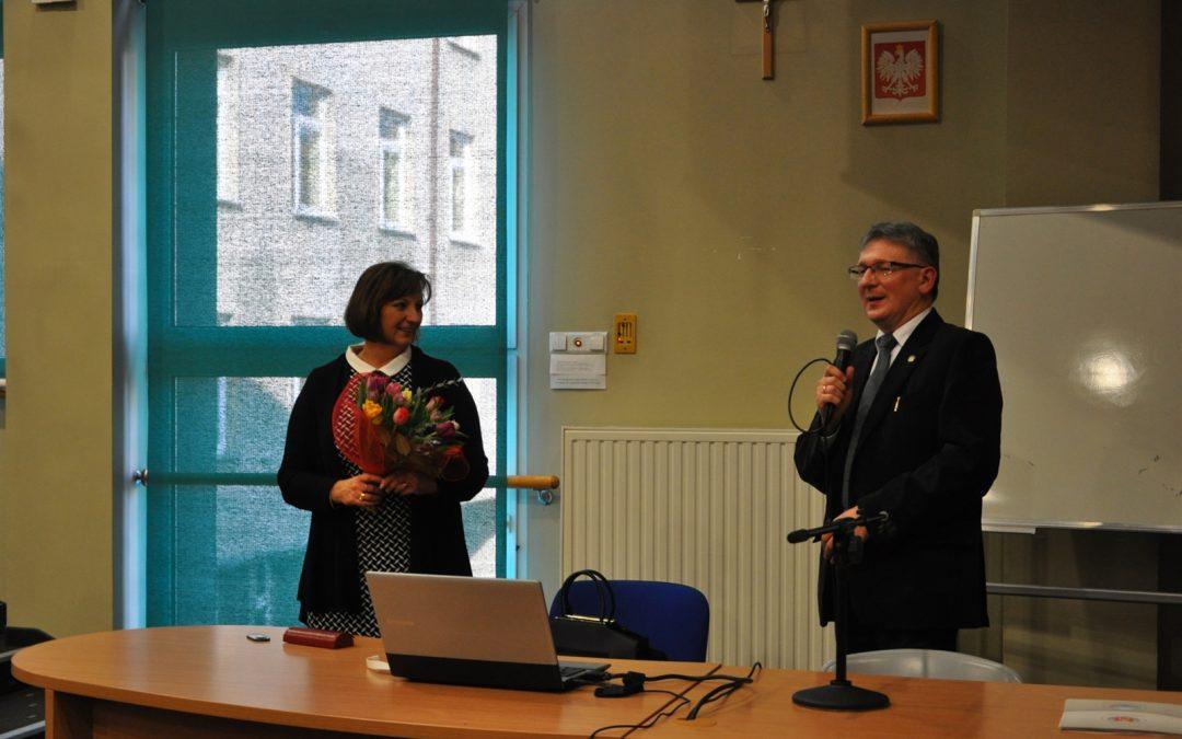 Fotorelacja z wykładu otwartego prof. dr hab. Barbary Kromolickiej