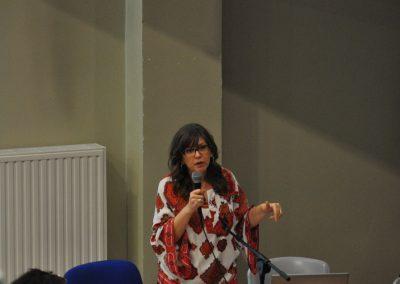 Prof. Susan Yelich Biniecki podczas wykładu